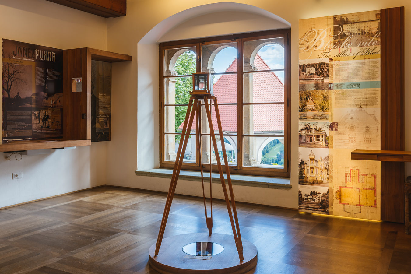 16. Museum - room 6: images of Bled and famous villas